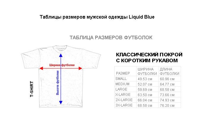 Мужские размеры футболок